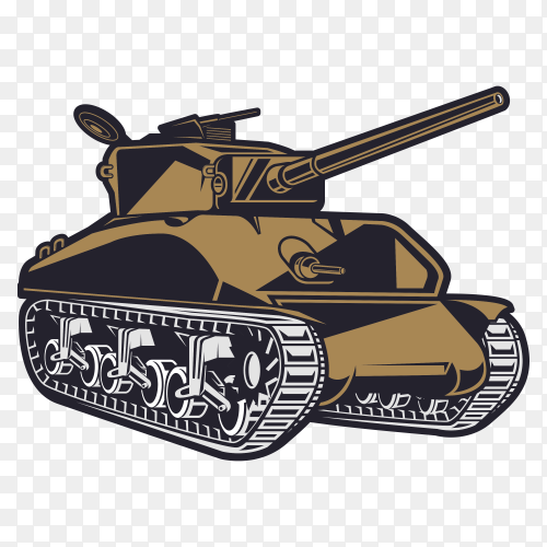 War tank Cartoon on transparent background PNG