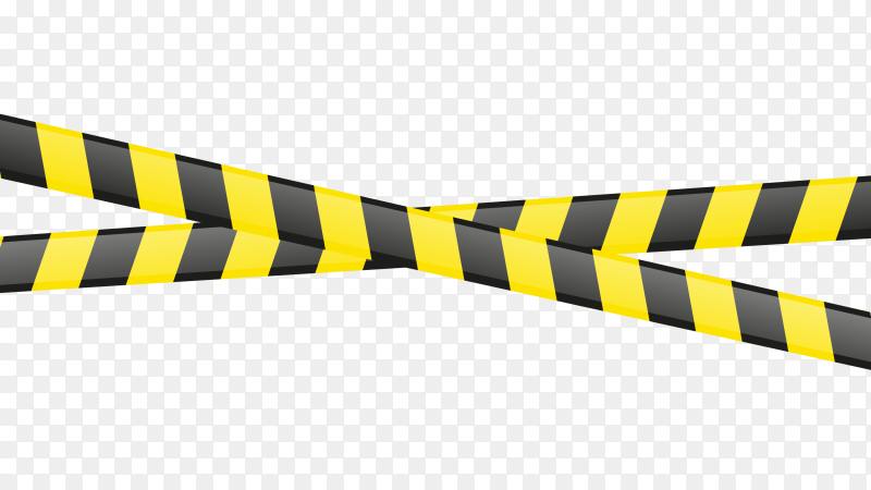 Warning yellow and black seamless tapes Premium Vector PNG
