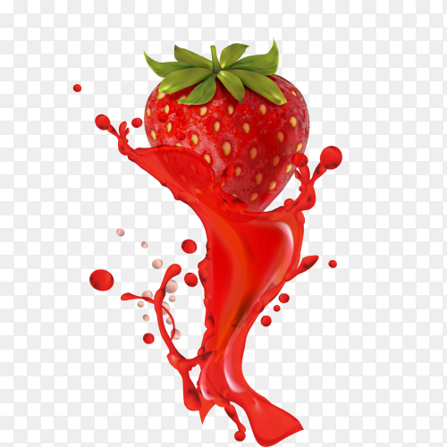 Watercolor Strawberry  Clipart PNG