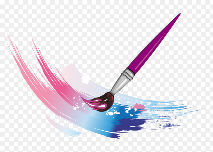 Watercolors with small bruch Clipart PNG