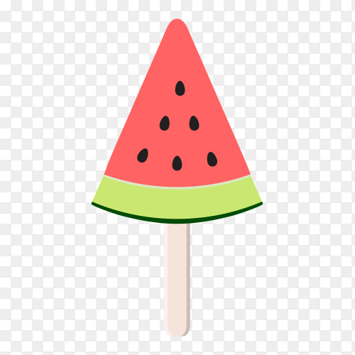 Watermelon ice cream on transparent background PNG