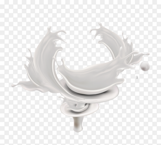 Wave Milk  on transparent background PNG