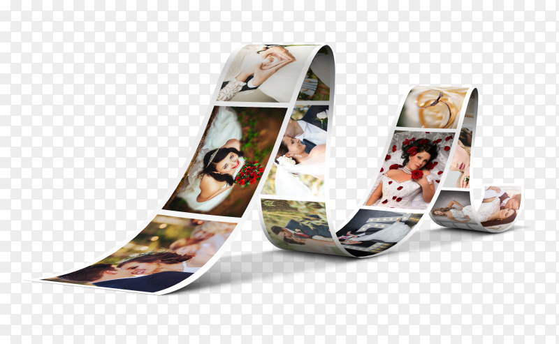 Wedding photo design clipart PNG