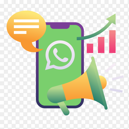 WhatsApp Marketing on transparent PNG