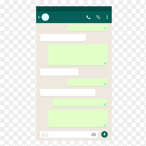 Whatsapp empty chat template vector PNG