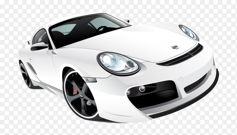 White car Premium vector PNG