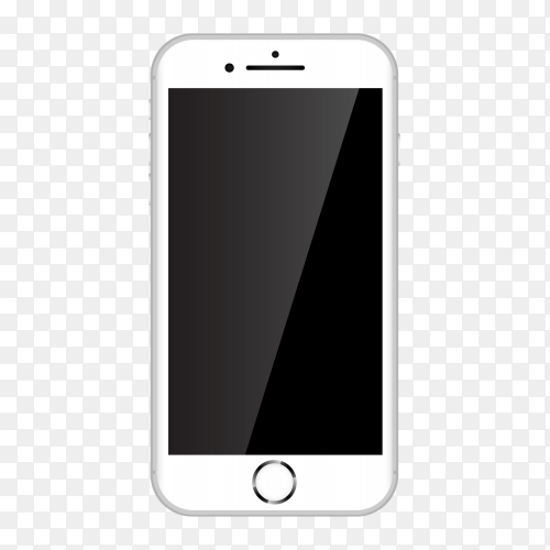White iphone mobile Premium vector PNG