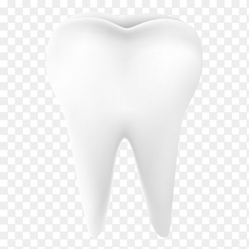 White teeth Premium vector PNG