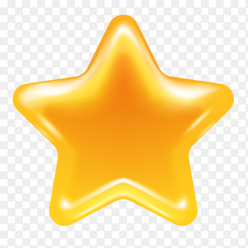 Yellow star Premium vector PNG