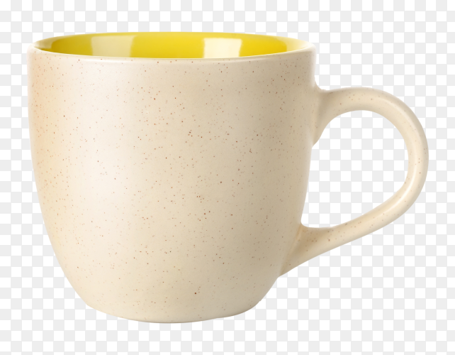 Yellow tea cup on transparent backgrond PNG
