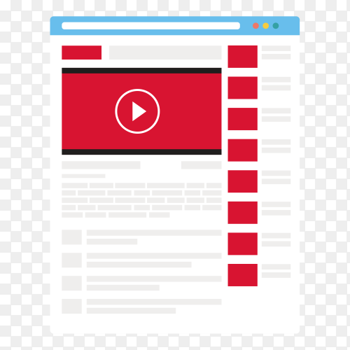 YouTube interface vector PNG