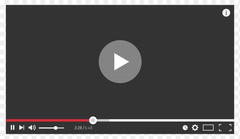 Youtube player video Preumim vector PNG