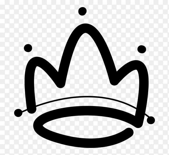 crown concept  logo design Premium vector PNG