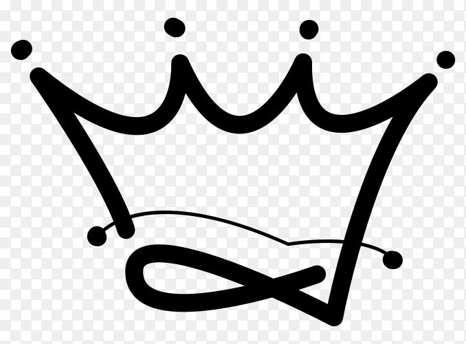 crown concept  logo design vector PNG