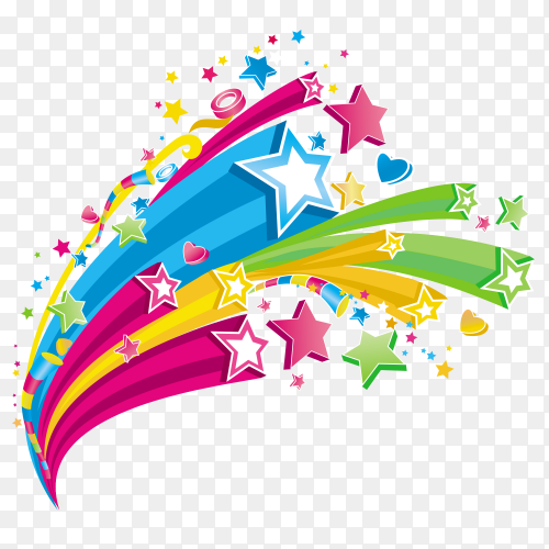 cute shooting stars magic icon design clipart PNG