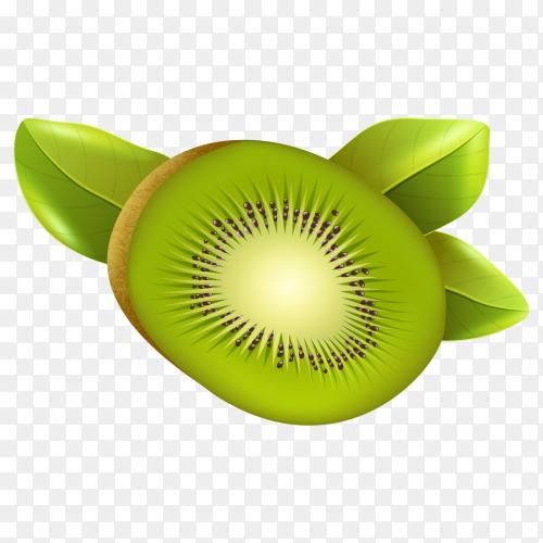 fresh kiwi fruit on transparent background PNG