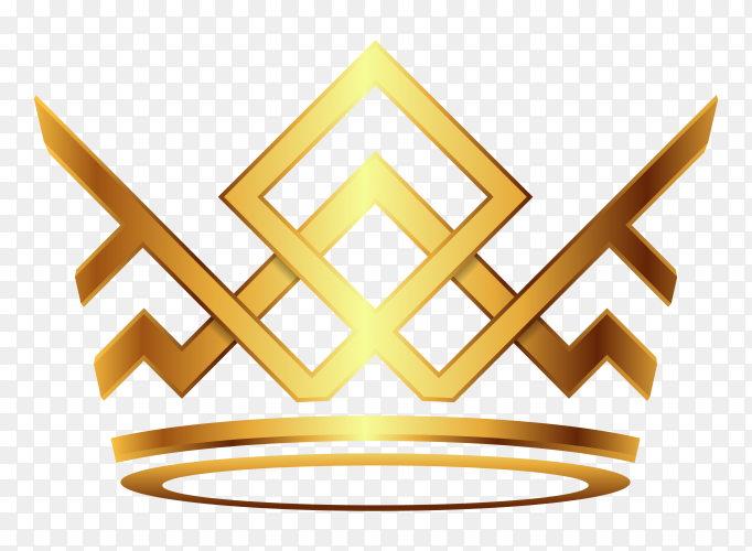 golden crown style vector PNG