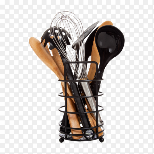 kitchen utensils on transparent background PNG