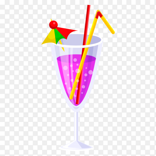 refreshing purple martini juice Clipart PNG