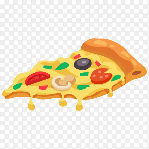 tasty pizza slice  clipart PNG