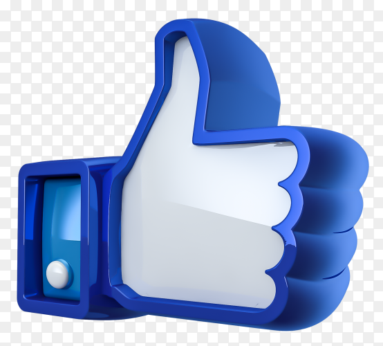 3D facebook like icon Premium vector PNG