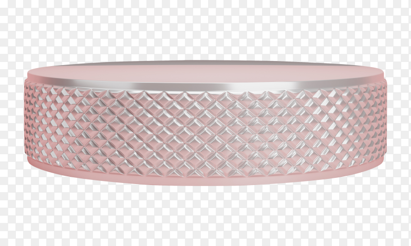 3D geometric pink podium for product placement Premium vector PNG