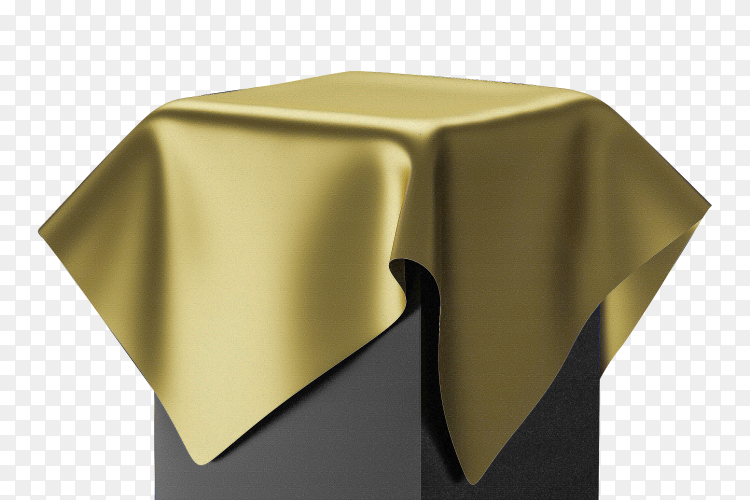 3D rendering golden pedestal on transparent background PNG