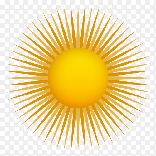 Abstract Sun illustration on transparent background PNG