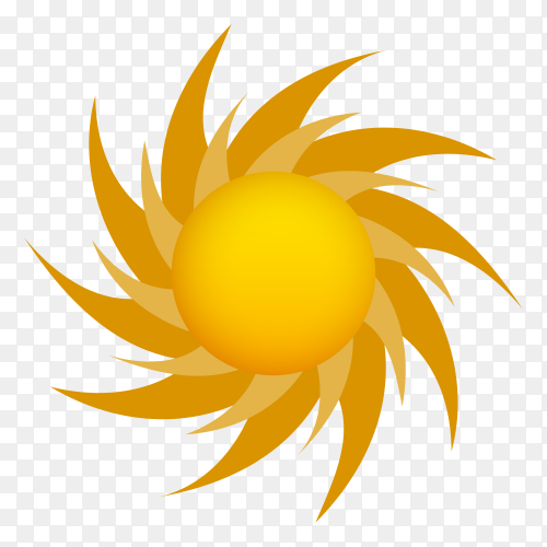 Abstract hand drawn sun Premium vector PNG