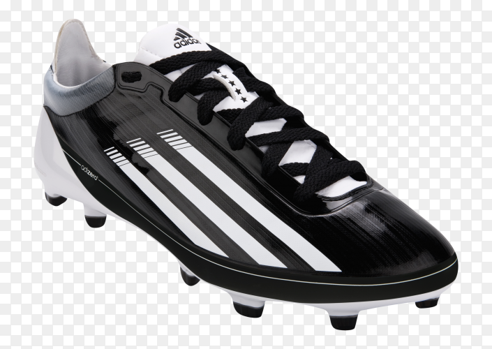 Adidas 5 star football cleats on transparent background PNG