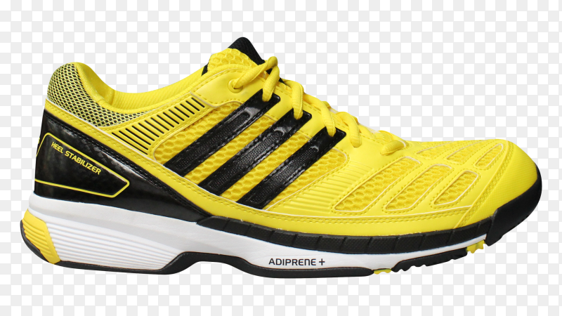 Adidas badminton shoes on transparent background PNG