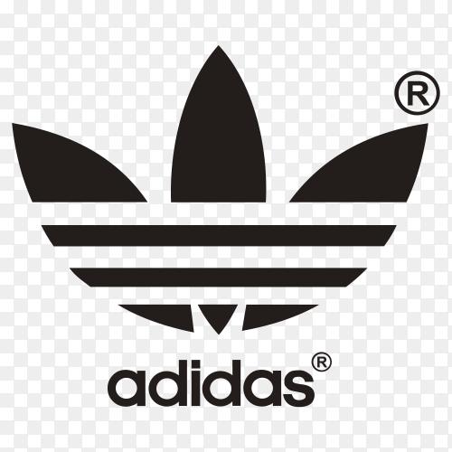 Adidas logo Premium vector PNG