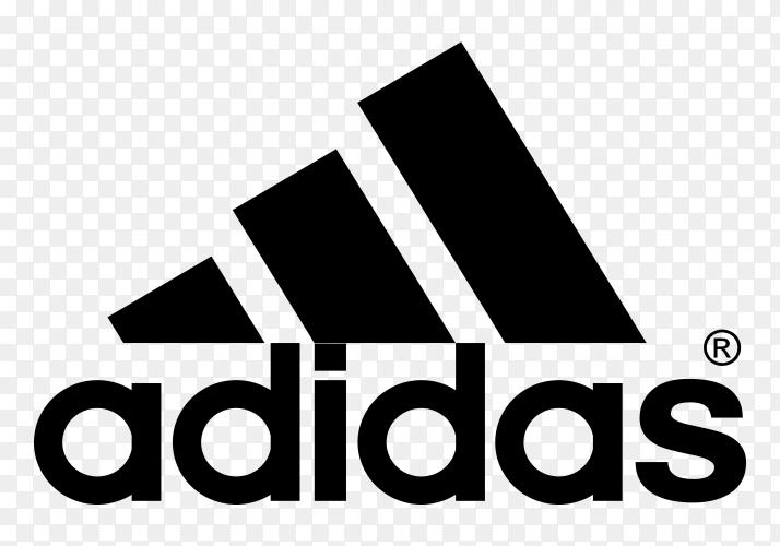 Adidas logo design Premium vector PNG