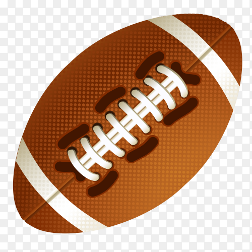 American Football Ball on transparent background PNG