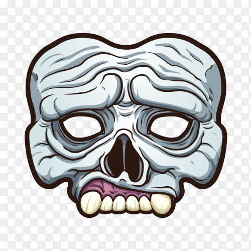 Angry skull poster with Teeths Premium vector PNG