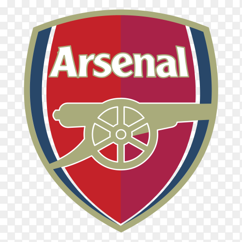 Arsenal Logo on transparent background PNG