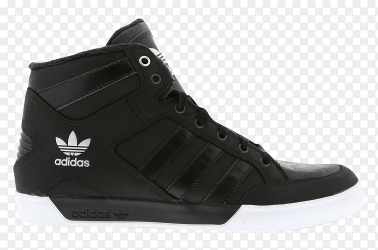 Balck adidas shose on transparent background PNG
