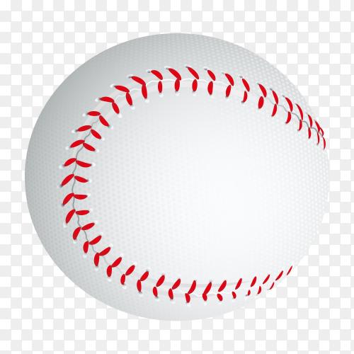 Baseball ball illustration on transparent background PNG