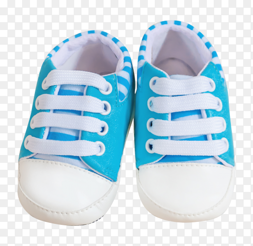 Beautiful baby shoes on transparent background PNG