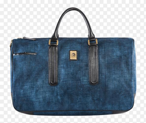 Beautiful elegance and luxury fashion Blue women handbag on transparent background PNG