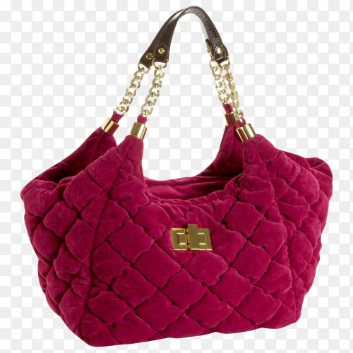 Beautiful elegance and luxury fashion women  handbag on transparent background PNG