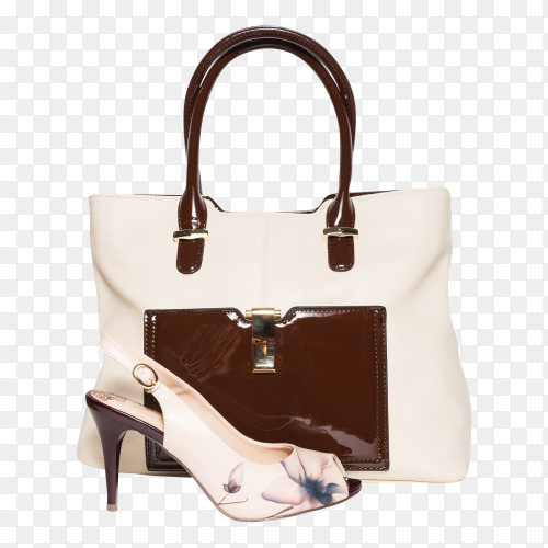 Beautiful handbag and shoes for woman premium image PNG