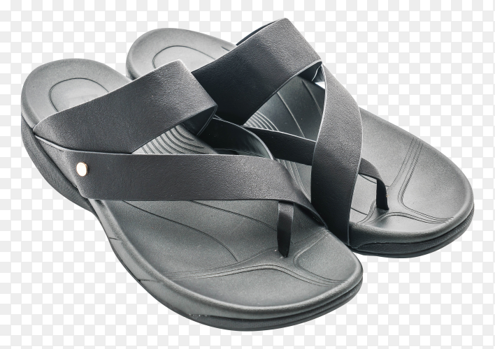 Beautiful men fashion sandal Premium on transparent PNG