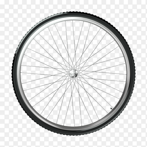 Bike wheel and spokes on transparent background PNG