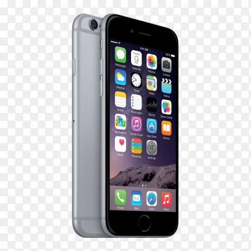 Black Iphone mobile Premium imagePNG