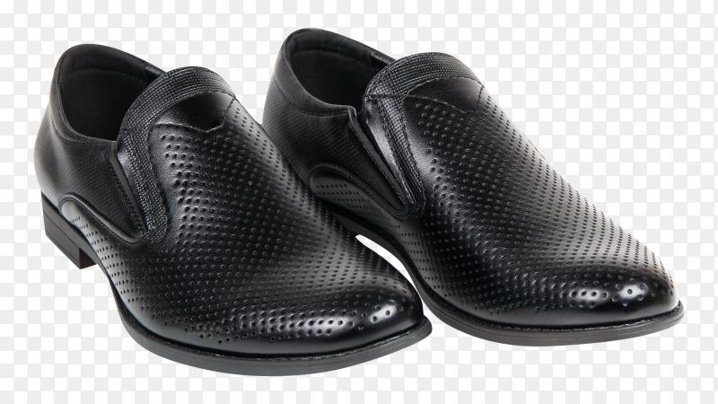Black mens shoes Premium image PNG