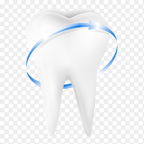 Blue Protective vortex around tooth vector PNG