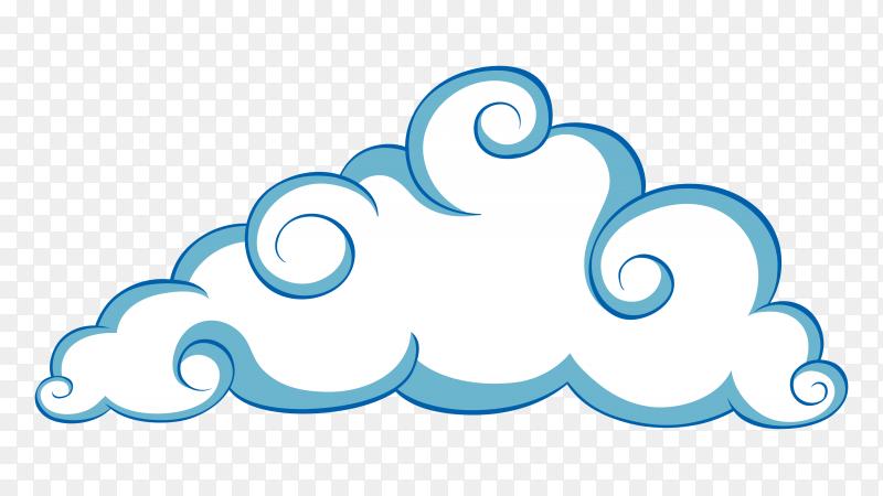 Blue cloud clipart PNG