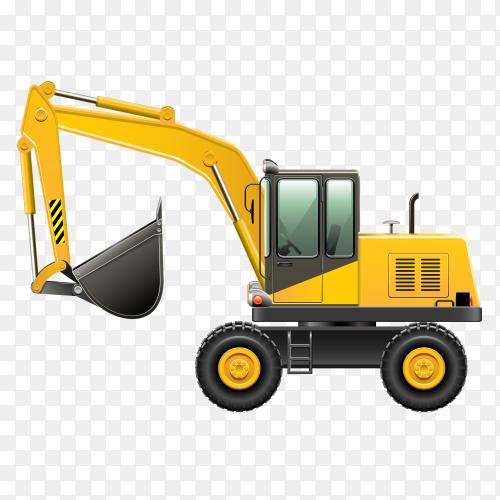 Bulldozer design on transparent background PNG
