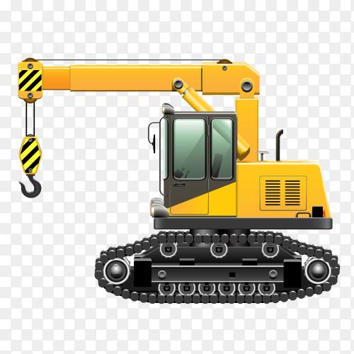 Bulldozer on transparent background PNG